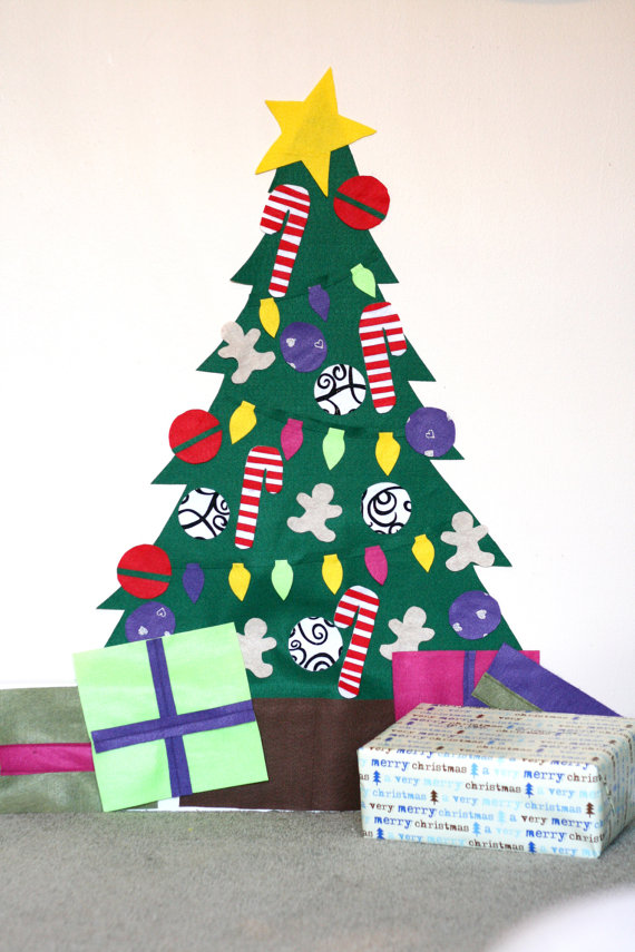 Deluxe Christmas Felt Tree Wall Activity. Build a Tree! Includes ...