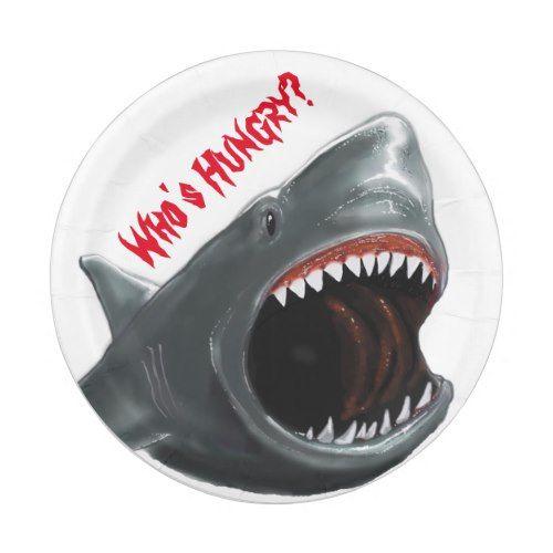 Shark Party Plate  sc 1 st  Pinterest & Shark Party Plate | Shark party Shark and Birthday party ideas