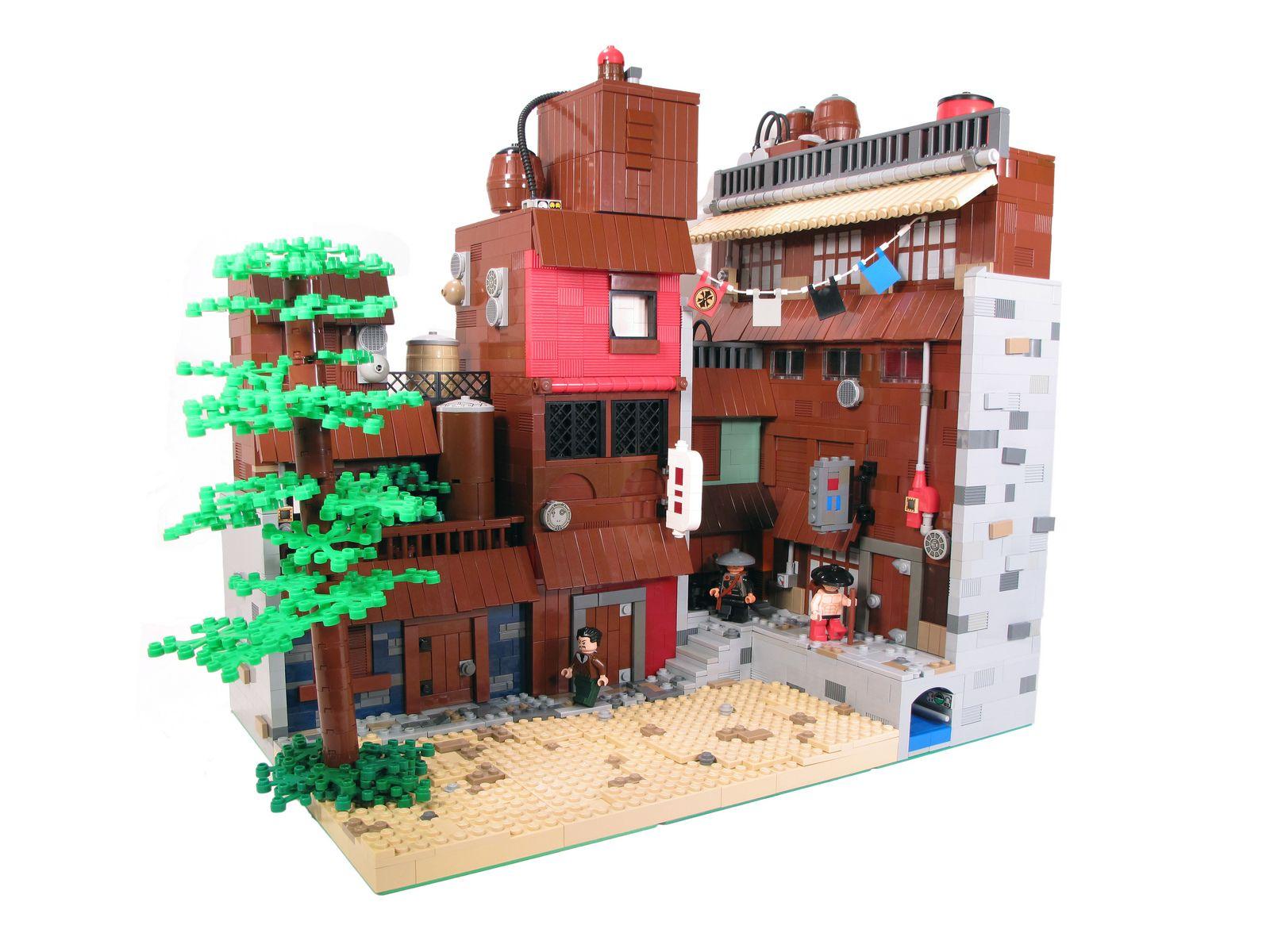 Konoha Lego city, Lego, Lego building