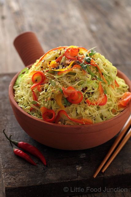Warm cabbage salad from little food junction food pinterest warm cabbage salad from little food junction forumfinder Images