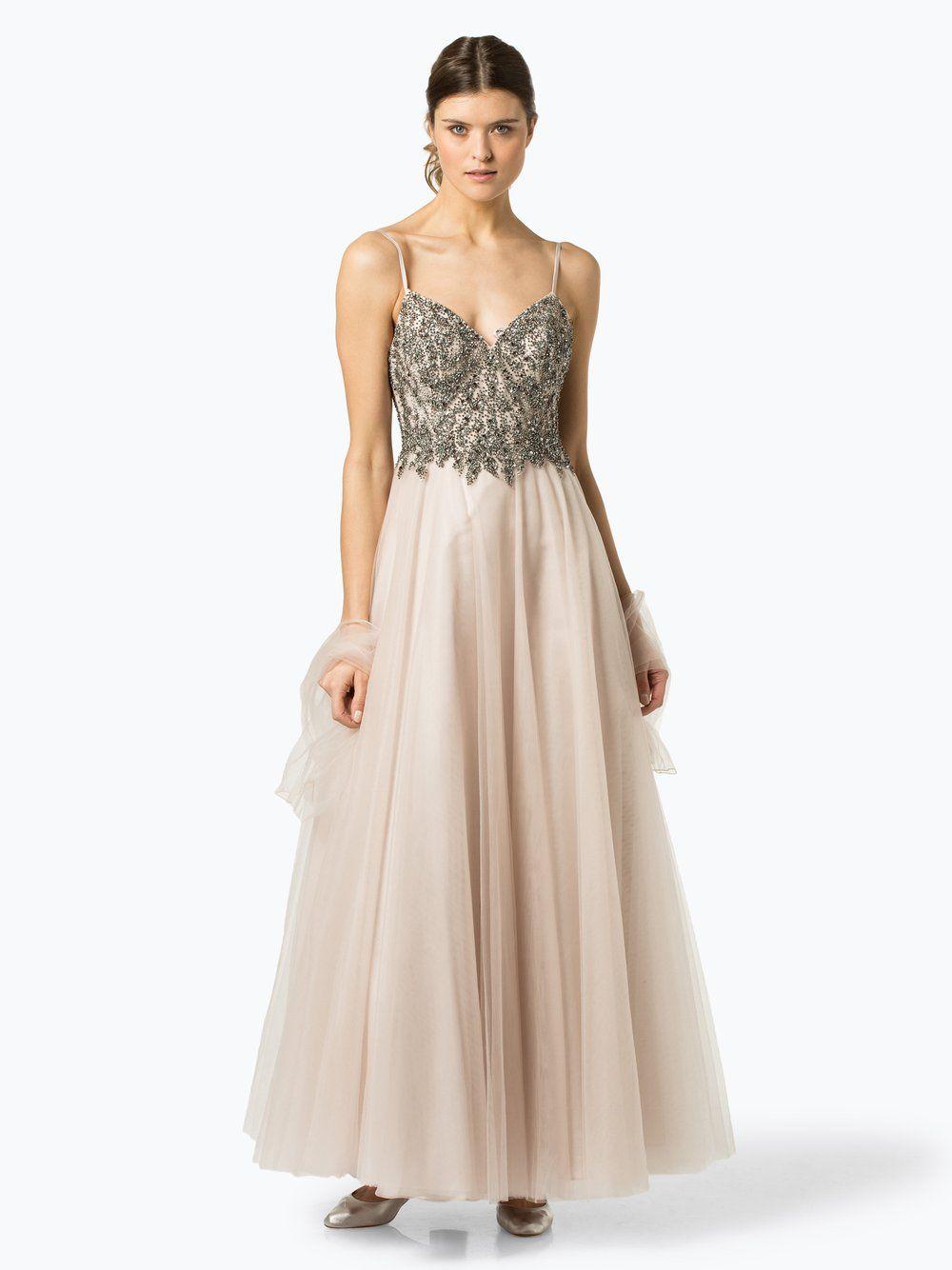 Unique Abendkleid mit Stola beige  Abendkleid, Kleid hochzeit