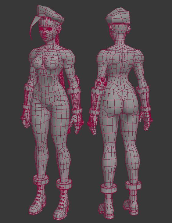 (Get a closer look at the model via p3d.in) Here are two ref sheets I put together::