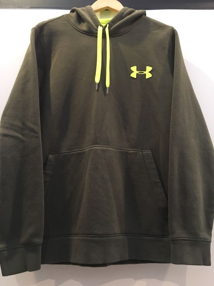 f5d54477b Under Armour Mens Storm Cold Gear Loose Fit Gray Fleece Hoodie Size ...