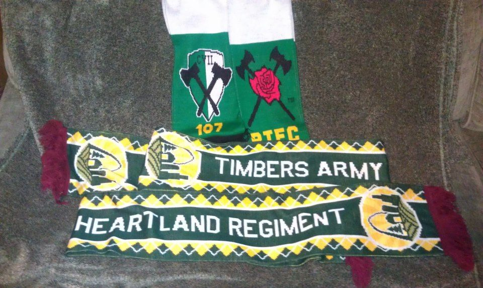 Custom Timbers Army Heartland Regiment scarf from