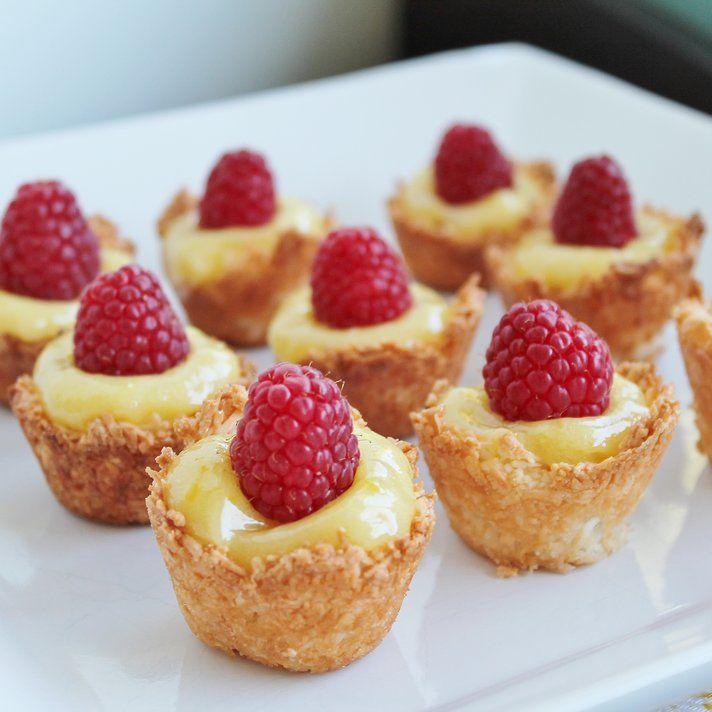 Mini Lemon Coconut Tarts Recipe Coconut Tart Food Gluten