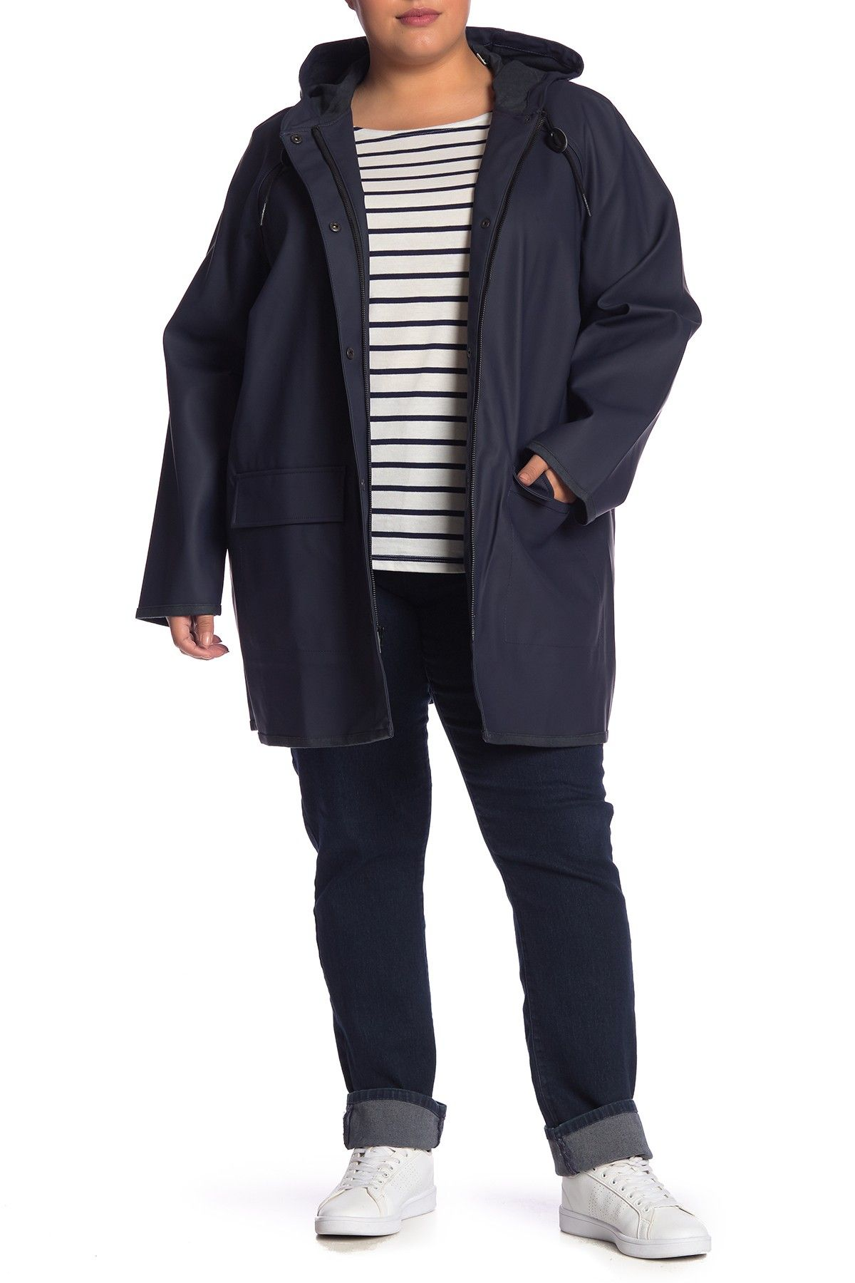 ab0a9e0780c Waterproof Raincoat (Plus Size) by Levi s on  nordstrom rack ...