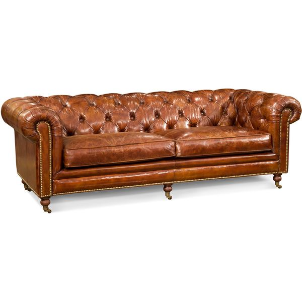 Grain Leather Chesterfield Sofa