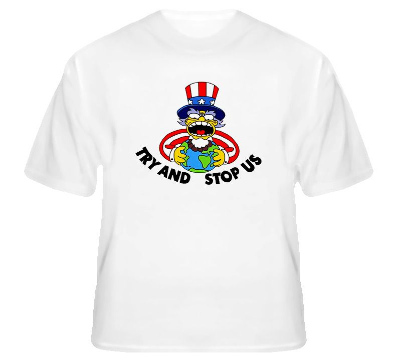 Try And Stop Us America Funny Cartoon T Shirt Medium | Wishlist ...