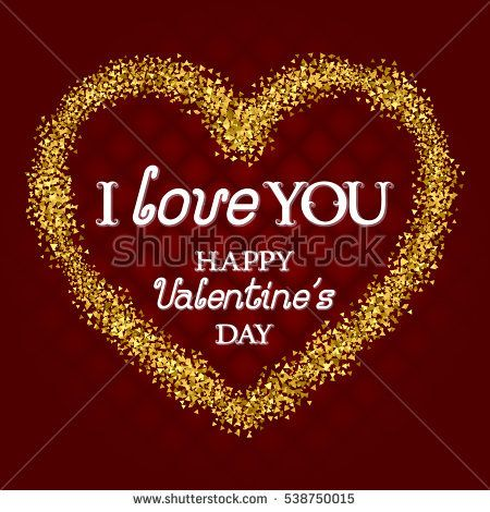 I #Love You #lettering and Happy #Valentines Day congratulation - congratulation templates
