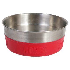 Kong Rubber Bonded Stainless Steel Dog Bowl Petsmart Dog Bowls