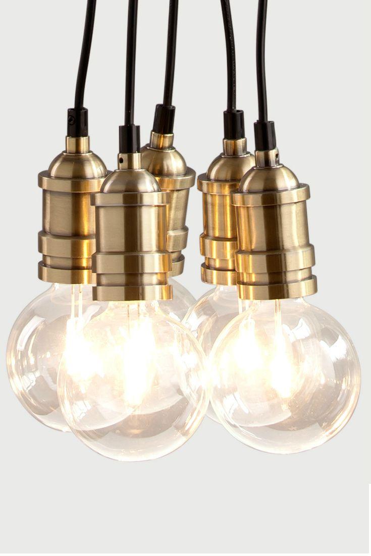 Popular Starkey Clusterh ngelampe aus Messing Breite und Form der Lampe lassen sich ver ndern indem man