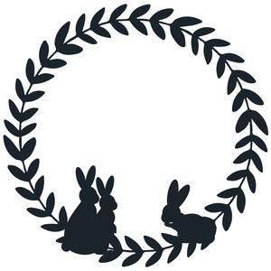 Photo of Silhouette Design Store: Bunny leaf wreath