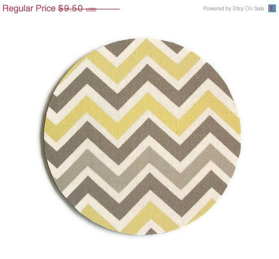 Sale Mousepad Mouse Pad Mat Round Or Rectangle Sunny Chevron Zig Zag Yellow Gray Dorm Gift Mouse Pad Unique Items Products