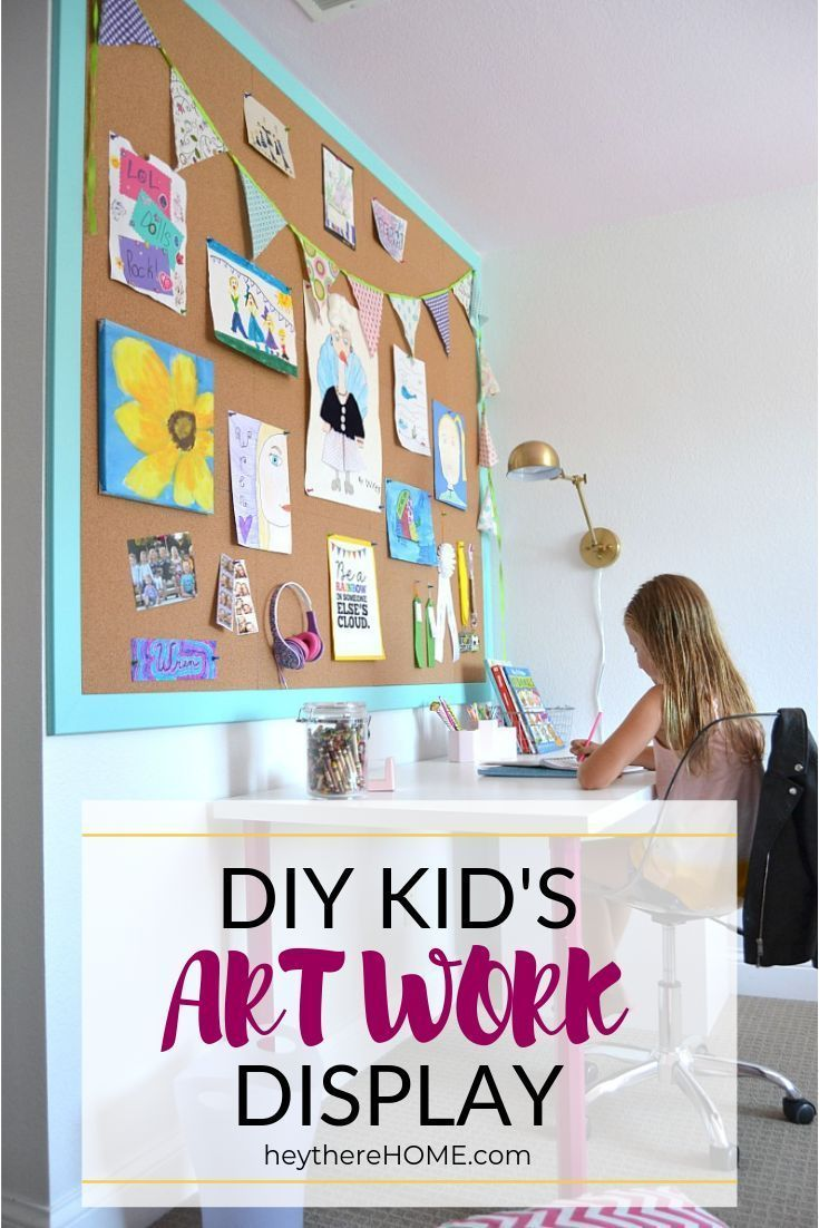 diy cork board wall displaying kids artwork diy diy on inspiring workspace with a cork wall creating a custom cork board for your home id=79484