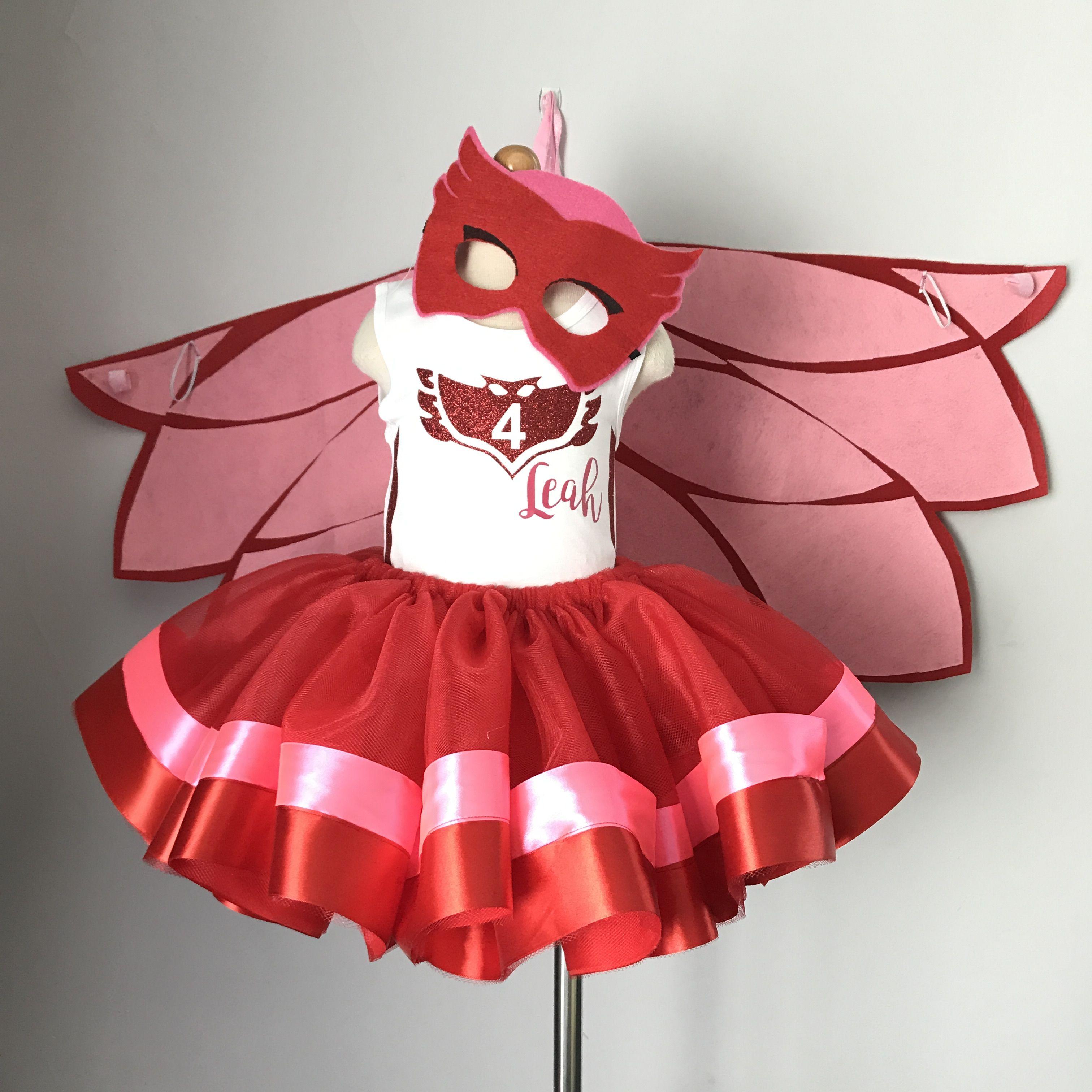 PJ Masks inspired tutu outfit - Owlette tutu skirt b74519ddd55