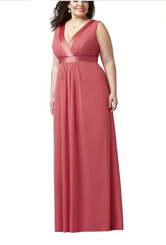 Plus Size Womens Party Dressescoral Weding Guest Dressesv Neck
