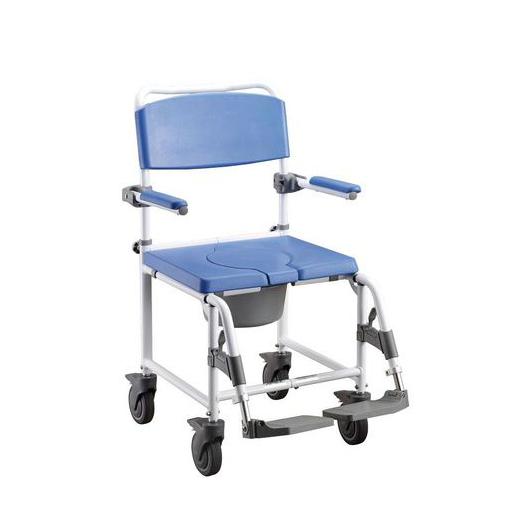Silla para ducha con ruedas e inodoro incorporado cómoda y