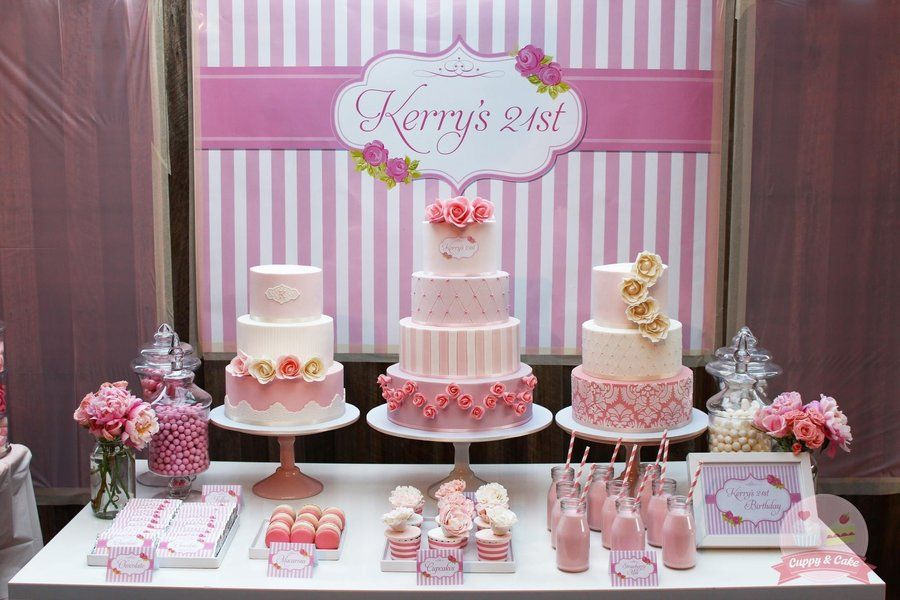 My 21st Cake Table By Cuppyandcake Cakesdecor Com Cake