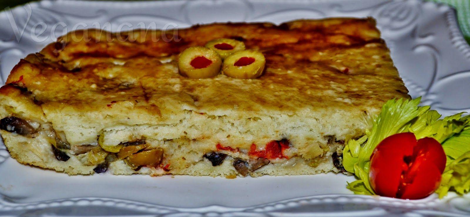 Torta de Cogumelos Palmitos e Azeitonas ~ Veganana