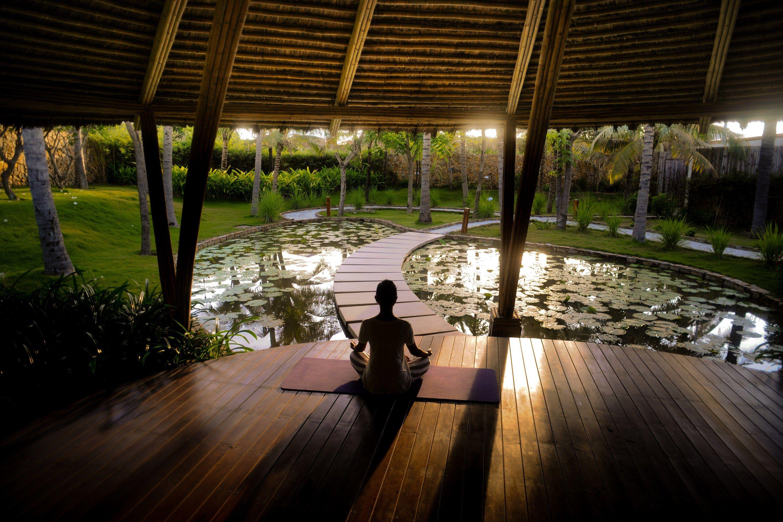Stunning Outdoor Yoga Retreats Around The World Outdoor Meditation Meditation Space Outdoor Yoga Meditation Space