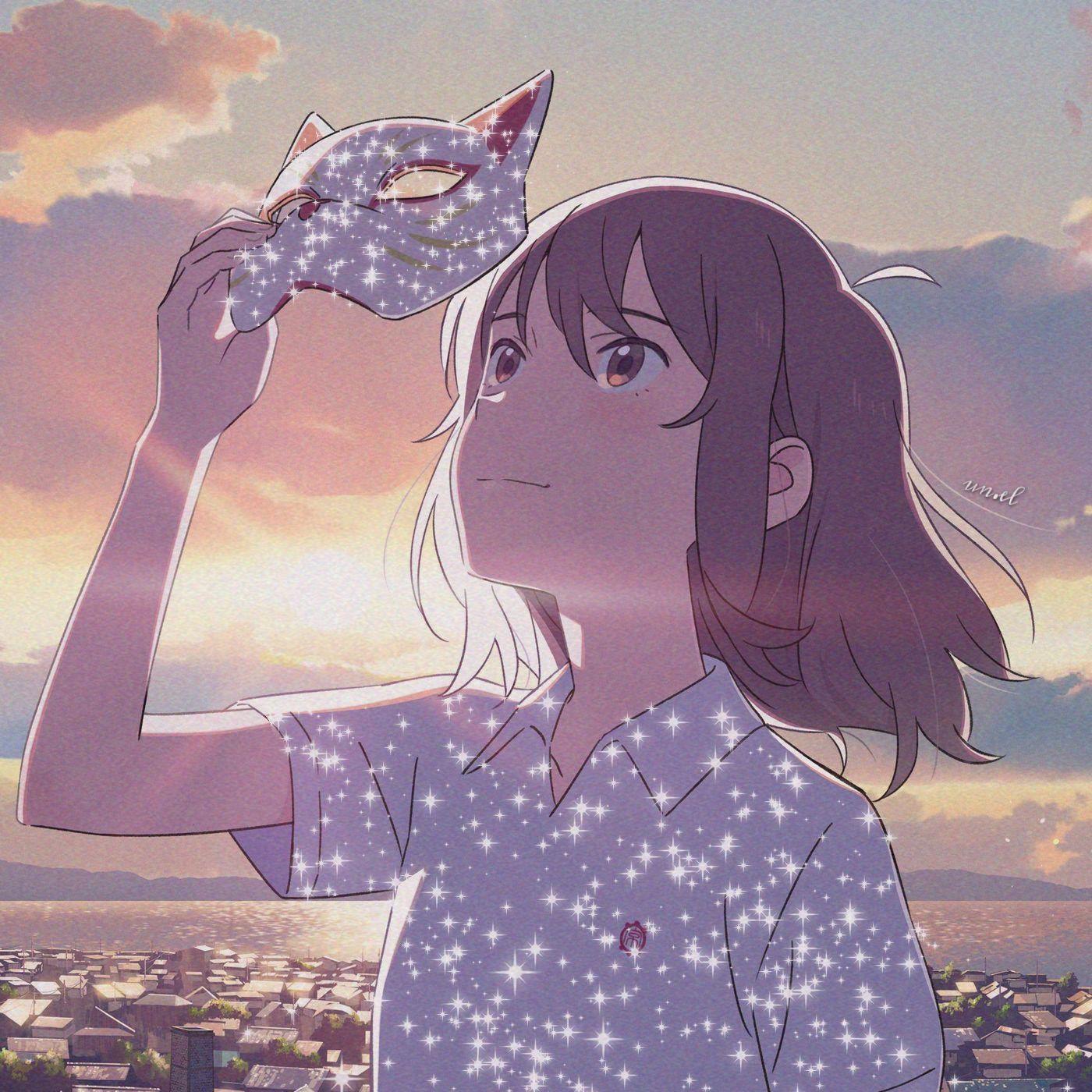 Miyo Sasaki Anime Aesthetic Icons Em 2020 Amor De Gato Olho De Gatinho Anime Icons