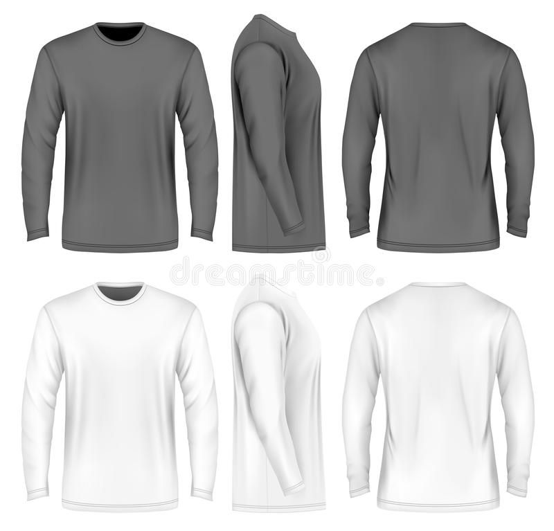 Download Men Long Sleeve T Shirt Front Side And Back Views Vector Illustration Fully Affiliate Side Men S Long Sleeve T Shirt Long Sleeve Long Sleeve Tshirt