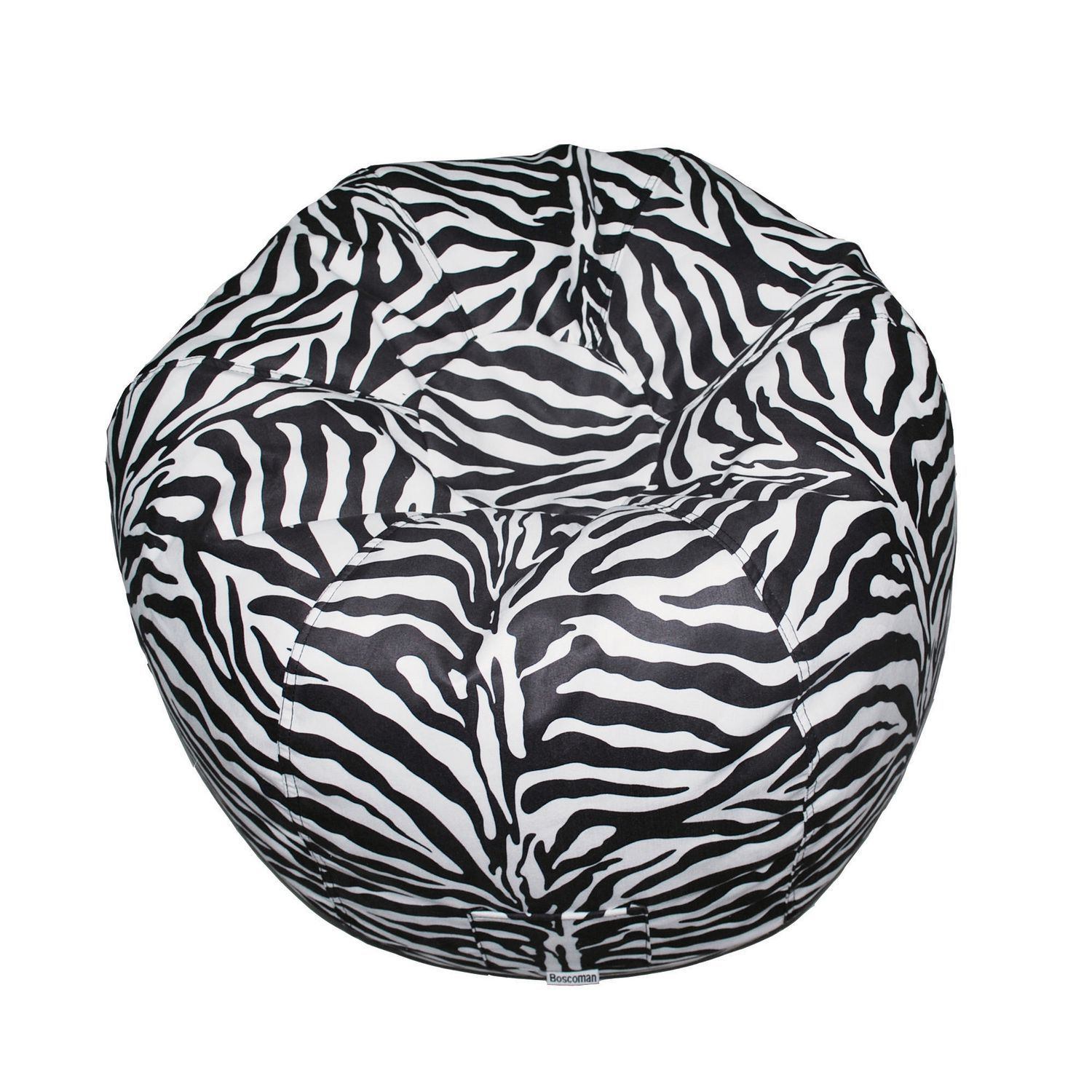 Boscoman Faux Suede Round Teen Beanbag Chair Two Tone My