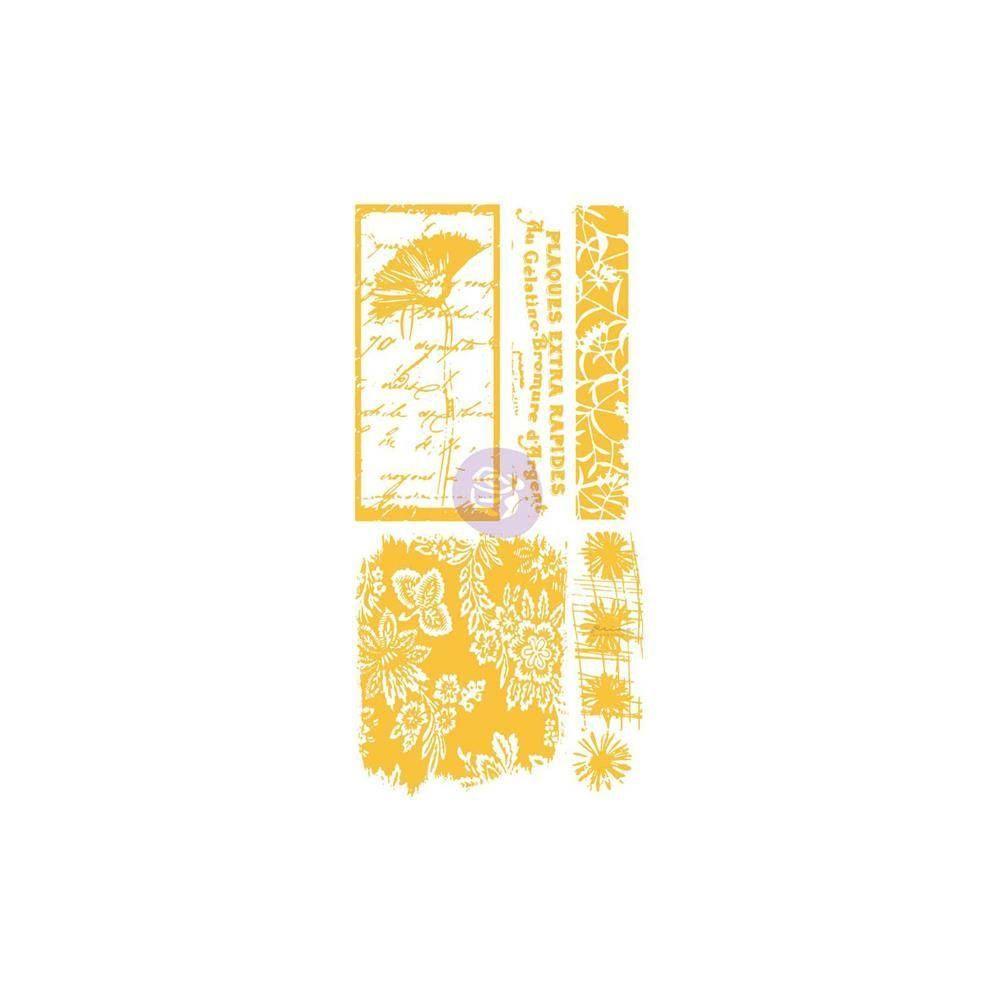 "Christine Adolph Adhesive Rub-Ons 5.5""X12"": Poppy Floral Script"