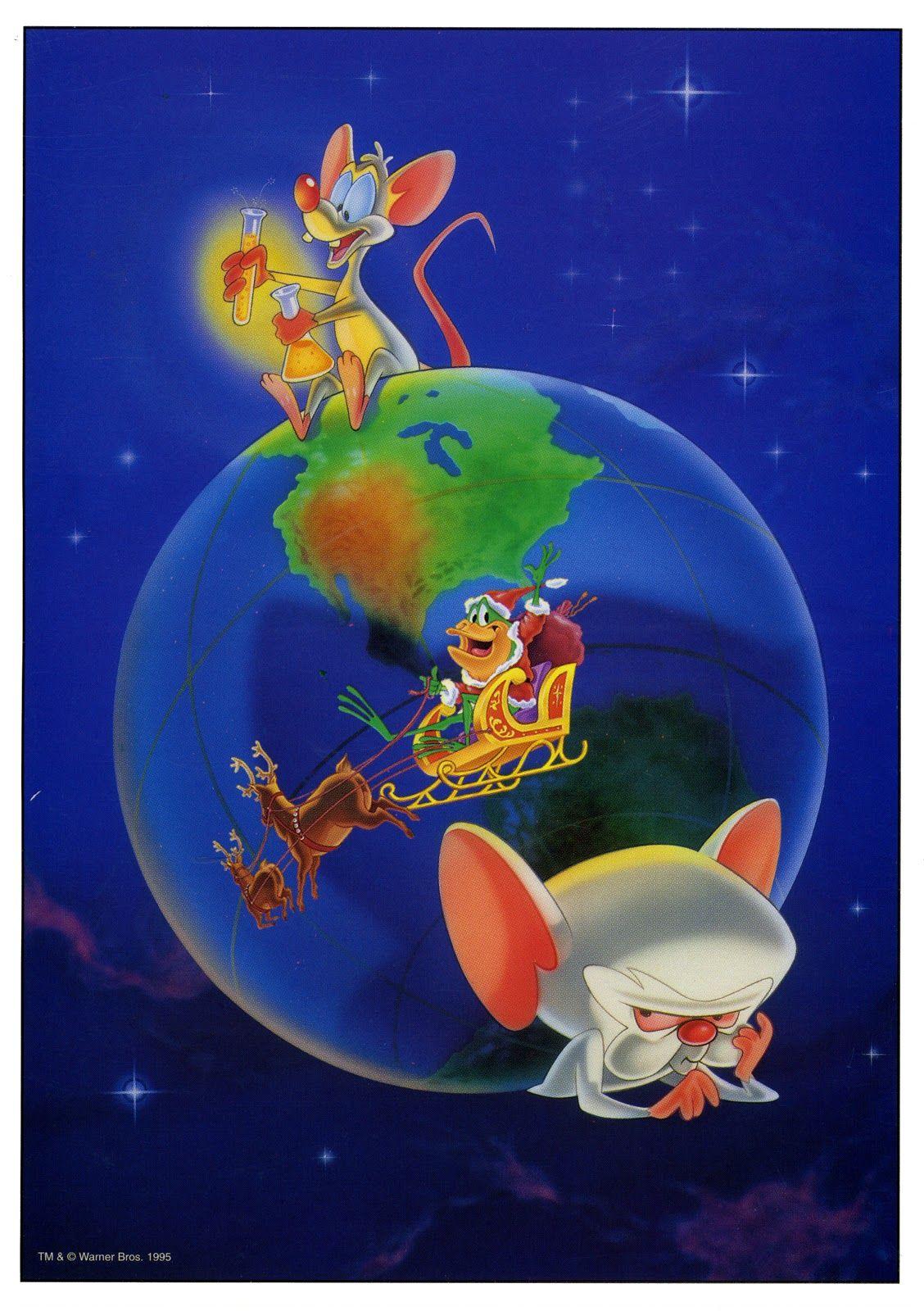 Pinky And The Brain Christmas.Cartoonatics Pinky And The Brain Christmas Card Pinky And