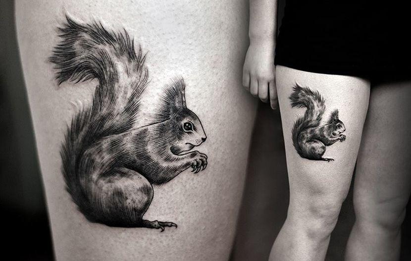 Tatuajes De Ardillas Y Su Significado Tatuaje De Ardilla