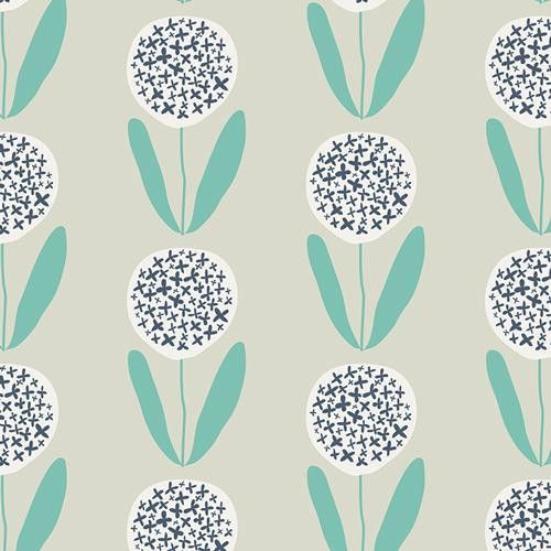 Candied Lollies Mint Stoff Kunst Floral Muster Stoffe Zum Nahen