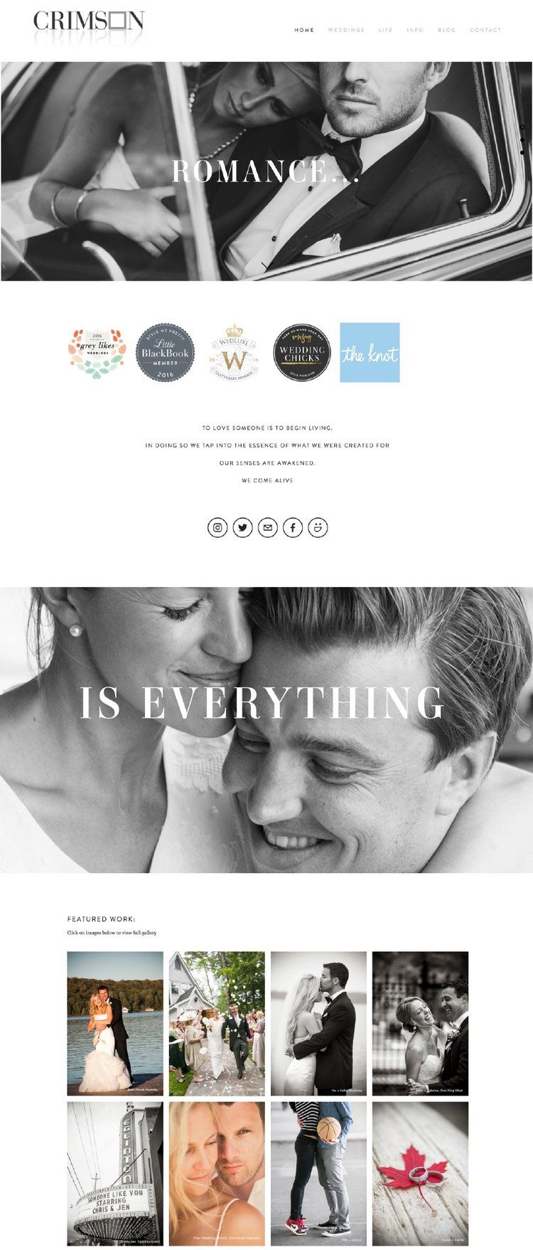 10 Best Example Squarespace Websites Photographer Edition