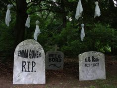 Halloween Decorations: Funny Tombstone Names and Epitaphs:  From DIYNetwork.com from DIYnetwork.com