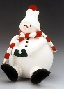 Supersized Snowman ~ made from socks and women's tights