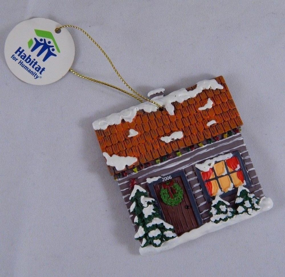 Habitat Christmas Trees: Habitat For Humanity Christmas Tree Cottage Cabin Ornament