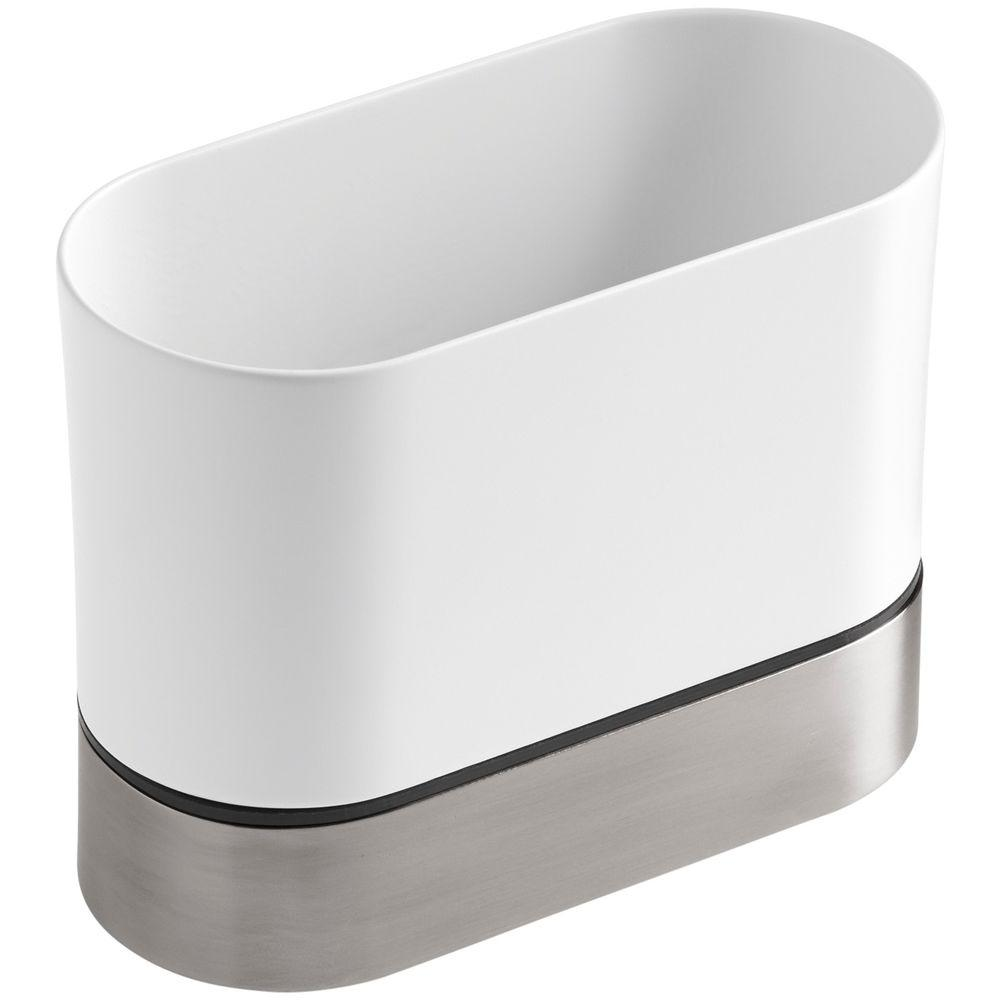 Entzuckend KOHLER Stainless Steel Kitchen Brush Caddy In White K 6378 0   The