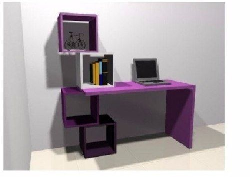 Escritorio moderno mesa pc laptos mueble de oficina - Mueble escritorio moderno ...