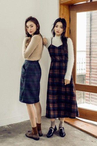 Elena P Checks Fashion Fall Fashion Outfits Korean Fashion