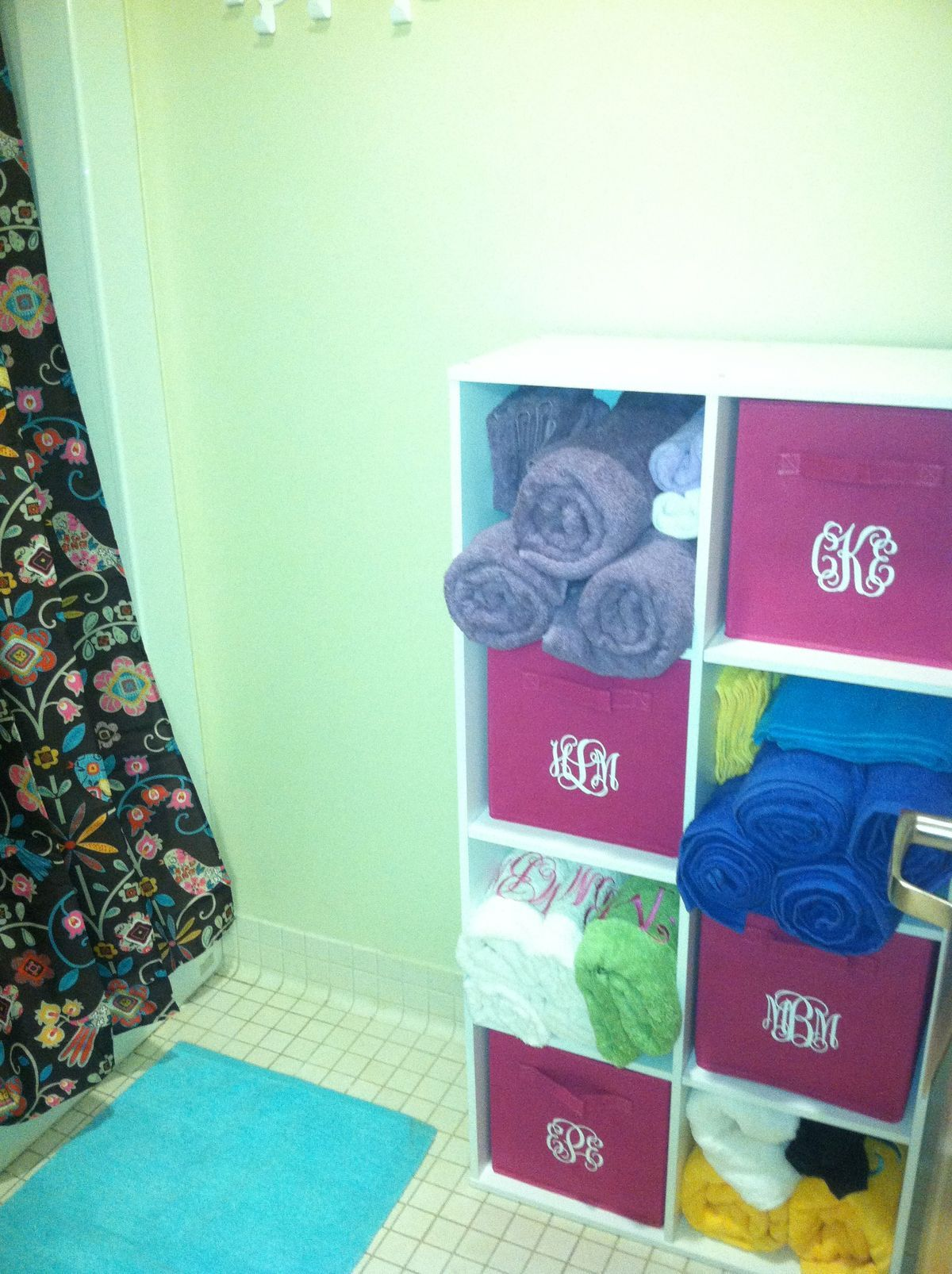 Dorm Shower Room It Looks Better In Person Bad Quality Picture Lolz This Would Be Cool For A Family Bathroom Too