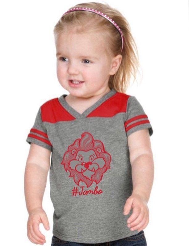 3bf3defa Jambo Unisex Infants, Toddler V Neck Football Short Sleeve Tee ...