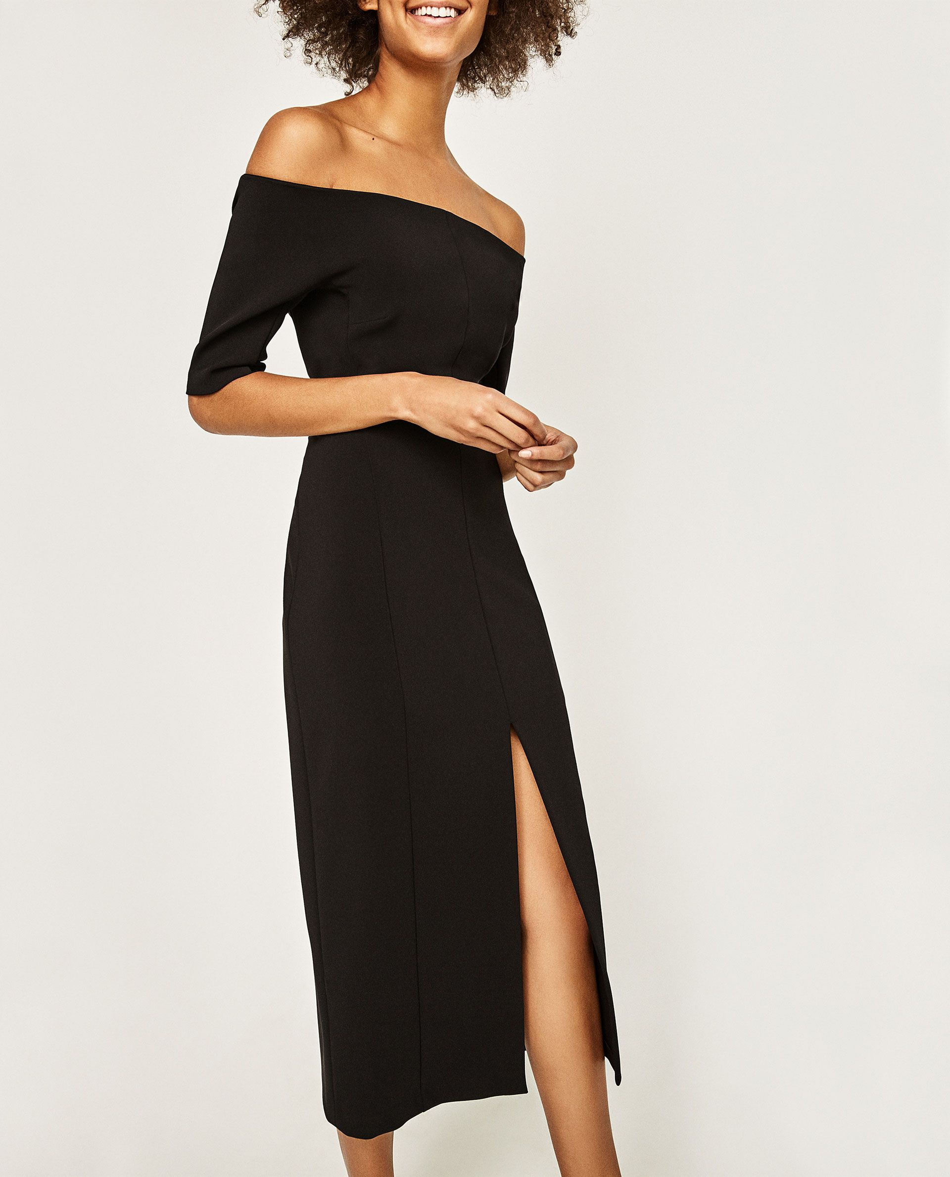 fd8ac3bc5f Image 5 of OFF-THE-SHOULDER MIDI DRESS from Zara