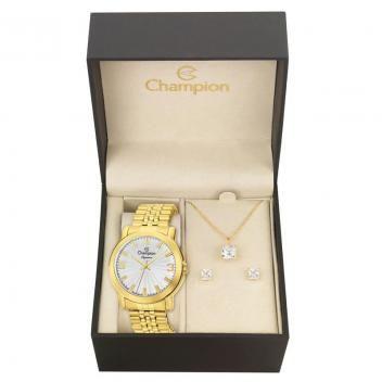 03409b80798 Kit Relógio Champion Feminino Elegance - CN27803W - Magnum group ...