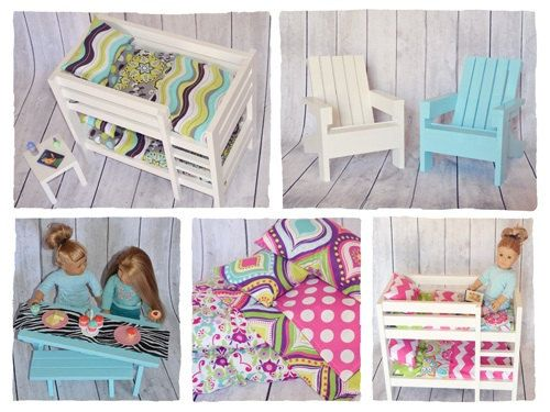 Heirloom Quality Doll Furniture For 18 Dolls Or American Girl Doll