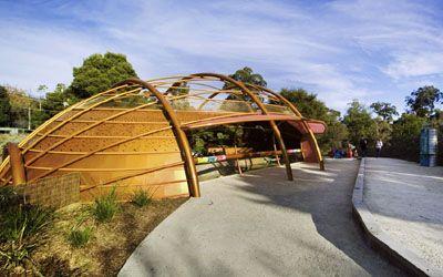 Platypusary at Healesville Sanctuary (BHP Billiton Platypusary). Architect: Cassandra Fahey (from Cassandra Complex).