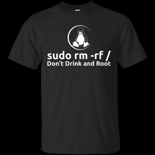 Programmer Linux Sudo rm rf Men/'s Black Hoodie