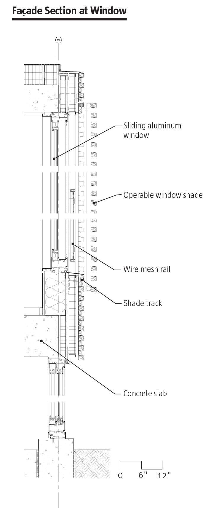 Facade Section at Window Housing Tower at Kripalu Center | Stockbridge, Mass. | Peter…