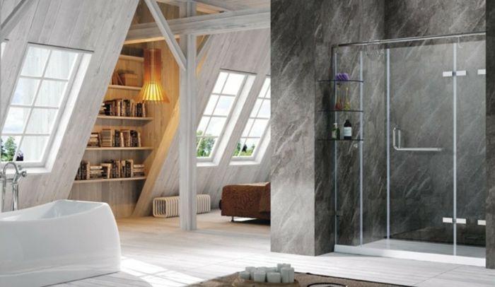 Dachgeschoss, Fliesen, Leuchten, Weiss, Badezimmer, Dekoration, Ideen,  Knows, Decoration