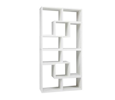 Meubelboek   Stapelkast/roomdivider Tetris Geborsteld Wit.