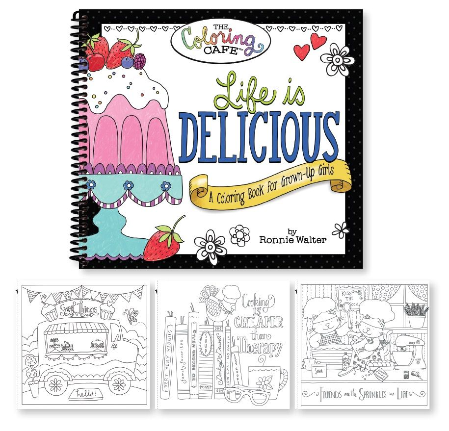 Coloring book kitchen - Life Is Delicious A Food Family And Friends Inspired Coloring Book With 45 Delightful