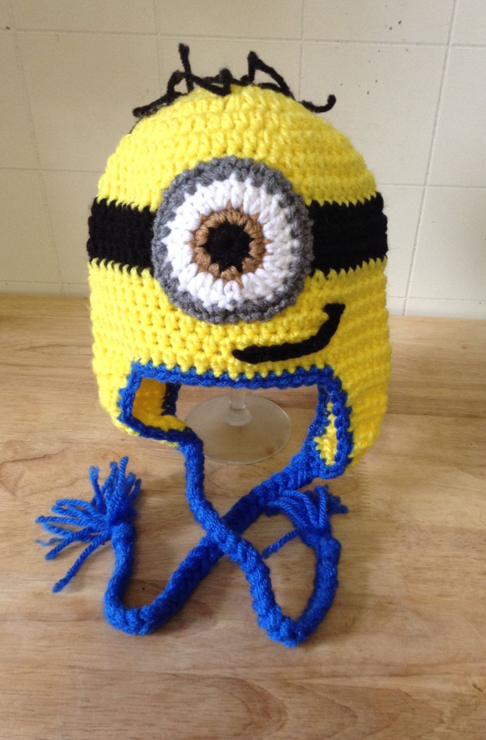 Crochet Minion Inspired Hat by AuntRosiesCrochet on Etsy